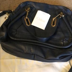 Navy w/ gold - perfect condition Chloe bag